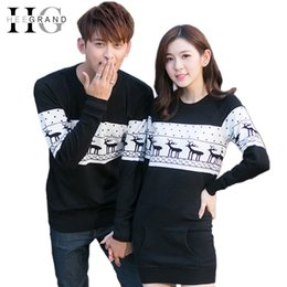 Wholesale Christmas Sweater Fashion Winter Men s Women Long Sleeve Crewnecks Pullovers Matching Deer Couple Christmas Sweaters