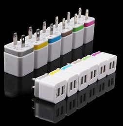 Dual ports USB Wall Charger Home travel adapter 5V 2.1A US EU Metal Adapter 2 ports plug for iphone 6 Samsung 1000pc