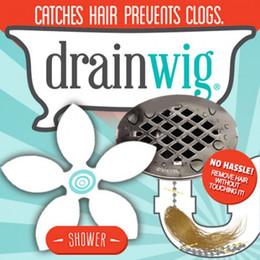 Wholesale 400pcs sets DrainWig Shower Drain Hair Catcher follower style Never Clean a Clogged Drain Again