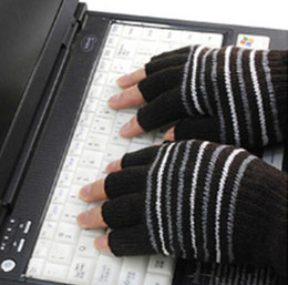 Wholesale-New USB Novelty Laptop USB Heating Winter Warm Hot Hands Gloves 5V 3 Colors