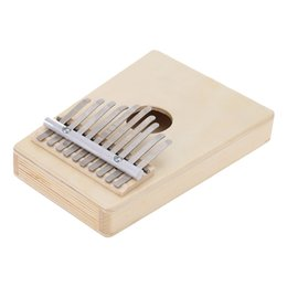 Wholesale Portable Key Mbira Finger Thumb Piano Hollow Pine Education Music Toy Musical Instrument Durable Pine Wood and Steel Bar