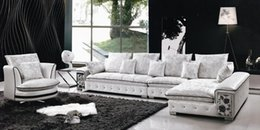 Sofa Modern Design Leather Fabric Sofa Se L shaped Sectional sofa with Rolling chair, low price Furniture Home sofa Settee