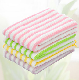 Anti-greasy multi color magic bamboo fiber washing dish cleaning cloth scouring pad towel kitchen cleaning wipes rag QD9