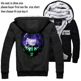 Jeff hardy Hoodie Jacket Men's Casual Coat Thickening Plus Velvet Unisex Sweatshirt Black