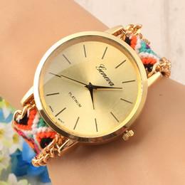 2015 hot new fashion women ladies girls Handmade Braided weave watch dress bracelets cartoon design wrist quartz watches youmyelectec1688