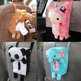 Wholesale New Rectangle Cute Rabbit Easily bear Home Office Car Tissue Box Cover Holder Paper Box