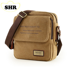 Wholesale-Men Canvas Bags Korean Casual Vertical Men Bag Business Small Shoulder Messenger Bags