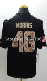 Wholesale Factory Outlet Alfred Morris Game Jersey Black New Men s Authentic Stitched Game Football Jerseys Top Quality Size S XL
