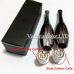 Wholesale Cheapest Vase cannon Bowling Atomizer Dry Herb Vaporizer wax Dual Coil Rebuildable Stainless Steel Black Vase Shape Metal Vapor E Cigs