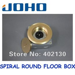 Wholesale DCX G Brass Spiral Round floor outlet box Australian socket V A