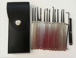 Free shipping 15 In 1 Stainless Steel Hook Lock Pick Set Locksmith tool pick lock tools door opener