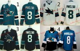 Sharks #8 Joe Pavelski Cheap Hockey Jerseys ICE Winter mens women kids Stitched Jersey Free shipping