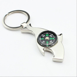 Wholesale Hot Fashion Compass Key Ring Shark Beer Bottle Opener Keychains Multifunction Creative Bag Car key holder Christmas Valentines Day Gifts