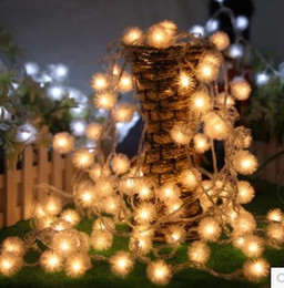 10M80 led maomao ball battery light holiday lights Christmas tree lights decorate the party led twinkle light waterproof lamp bar chandelier