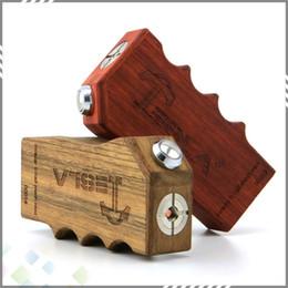 Wholesale Authentic Tesla Invader II Wood Mechanical Mod Safest E Cigarette Mech Sub Ohm Vapor Mods ohm max current A Wood Box Mod DHL Free