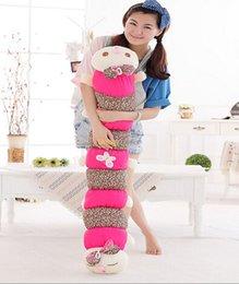 Wholesale Fancytrader New Arrival cm Lovely Jumbo plush Caterpillar Toy Gift for kids Girl FT50045