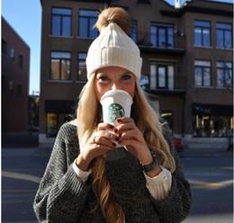 Wholesale New Unisex Soft Knitted Hat colors Raccoon Fur Ball women ball cap Headgear Men Casual Pom Girl Bonnet Gift