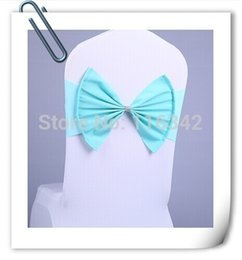 Wholesale Factory Price Chair Decoration Bow Flower Elastic Chair Back Chair Covers Yarn Wire Bandage