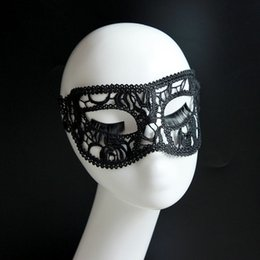1PC Black Sexy Lace Mask Cutout Eye Mask for Halloween Masquerade Party Fancy Dress Costume WQ536