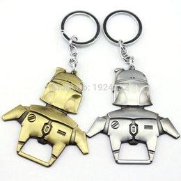 Wholesale Hot Movie Star Wars Boba Fett Bottle Opener Keychain Bar Key Metal Keyring Vintage AntiqueSilver For Fans Collection