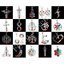 Wholesale Charm Positive Energy Colorful Stone Bead Buddha Flower Moon etc Pendant Accessories Antique Silver Plated Fashion Jewelry X Mix Order