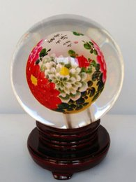 Wholesale 2016 New artwork Chinese hand made glass crafts glass globe terrarium inner Blossoming for home decoration