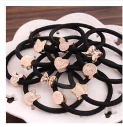 Korean hot commodity many patterns headdress ornaments retro cute children and adult hair knotted rope free shipping