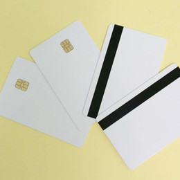 Wholesale 200PCS PVC blank Card in SLE4442 chip With track mm Hi Co Magnetic Stripe MagStripe card Customizable