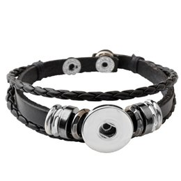 P00650 Hot wholesale Snap Button Bracelets Newest Design Fashion NOOSA chunks Leather Bracelets Fit 18mm Noosa Chunk DIY Rivca Snaps Jewelry