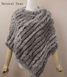 Wholesale 2015 Genuine Rabbit Fur Poncho shawl jacket coats Whole Sale Retail Factory direct sales women s Dress