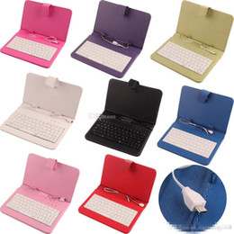 Wholesale Universal leather case with usb keyboard Micro USB Flip Protective Cover Tablet Leather Case For HP Slate inch Case colors