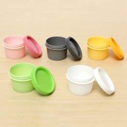 Wholesale Empty Plastic Jar Pot Containers Mask exfoliant Cosmetic cream ointmen Box Beauty Tools Accessories Refillable Bottles
