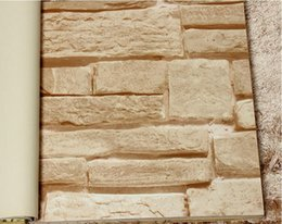 home decor vinyl roll brick stone Effect 3D wallpaper 3D stone brick design background wall modern for living room wallcovering