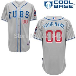 Wholesale 2016 New Custom Chicago Cubs Authentic Personalized New Cool Base white gray blue Baseball Jersey custom store