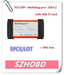 Wholesale V2014 New Design Bluetooth Multidiag Pro For Cars Trucks And OBD2 With GB Memory Card Support Win8 DHL free