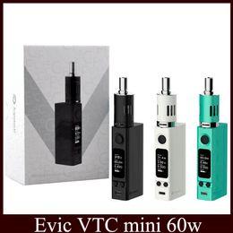 Evic vtc en Línea-Joyetech Evic VTC mini kit 60w Temprature Control eGo ONE Mega VT Atomizador CL Bobina Ti 0.4ohm Ni 0.2ohm DHL 0266042-2