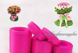Wholesale-Shocking Pink Satin Ribbon 38mm Wedding Bridal Party Favour Gift Decor
