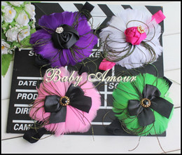 Wholesale Manufacturers accusing new European child feather hair accessories baby amour Feather headband