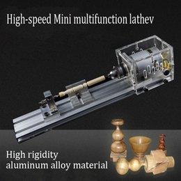 Wholesale Mini DIY Woodworking Lathe Micro Beads Lathe Polishing Cutting Mini drill Rotary tool Beads machine Polished