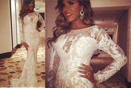 Robe de soirée Robe de soirée Labourjoisie Mermaid White Dentelle Yousef aljasmi Perles Robe longue Zuhair murad Yousef aljasmi Kim kardashian à partir de robes moulantes kardashian fabricateur