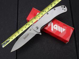 201506 New kershaw knife folding knife 8Cr17MOV 58HRC blade grey finish EDC pocket knives rescue knife S181M