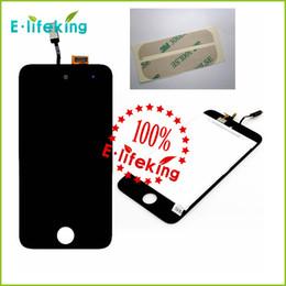 Iphone vidrio de alta calidad en Línea-Reemplazo de alta calidad LCD + pantalla táctil Glass Assembly + cinta adhesiva para iPod Touch 4 con envío gratuito