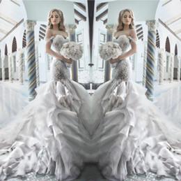 Pnina Tornai 2015 strass robes de mariée sirène avec chérie Shouler sans bretelles Crystal Tulle luxe chapelle train robes de mariée chaude à partir de mariage strass robe de cristal fabricateur