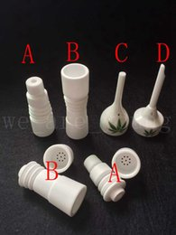 New Design Ceramic nails 14mm&18mm male or female Domeless Ceramic nails Ceramic Carb Cap vs GR2 Titanium Nail Quartz nail