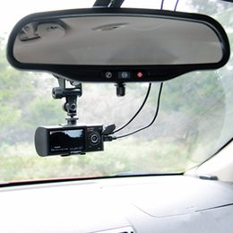 Wholesale R300 quot LCD Wide Angle High Definition Dual Lens Dash Cameras Car Camera GPS Logger and G sensor R300 Car DVR R300