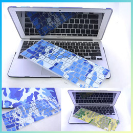Wholesale-2016 Newest Colorful laptop skins Camouflage colors For apple keyboard stickers silicone keyboard protective film For Macbook