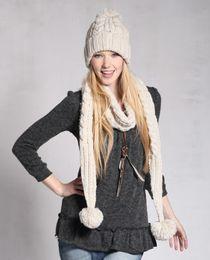 Descuento mejores bufandas de moda Al por mayor-2PCS / Lot Beanie Cap + Scarf KenMont Sombreros Inverno mujeres superventas de la manera de lana tejidas a mano Beanie sombrero y traje de bufanda