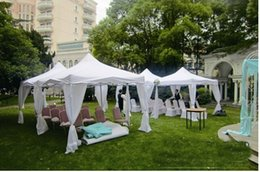 Wholesale 5pcs white outdoor Wedding Party Tent patio Gazebo Canopy folding canopy with Side Walls X10 via DHL shipping