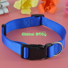 (100Pieces lot) Hot Sale New Arrival Brand 3 Colors 4 Sizes Stocked Nylon Dog Pet Collar Necklace Cat Puppy Products