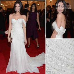 Wholesale 2016 Ashley Greene Stunning Ivory Mermaid Celebrity Gown At Met Gala Red Carpet Formal Evening Dresses Custom Made Dresses Evening Wear